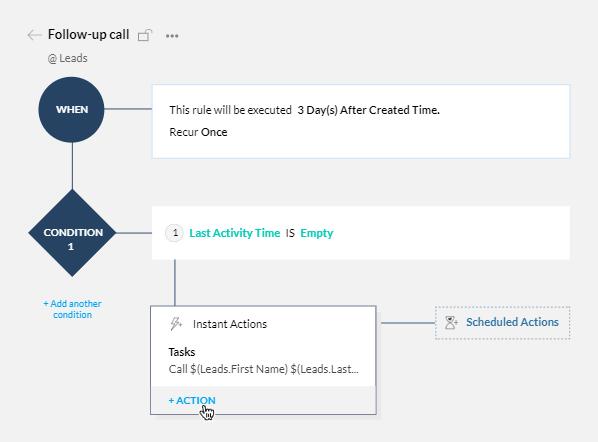 Automatización de tareas y llamadas Zoho CRM